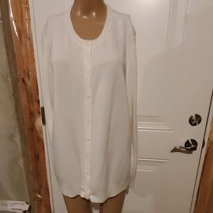 Cream Button Up Sweater 2XL